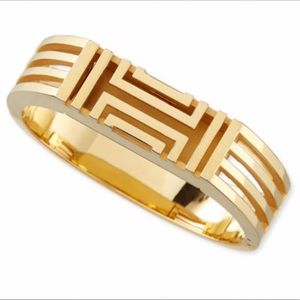 Tory Burch Gold Hinged Fit Bit Bracelet